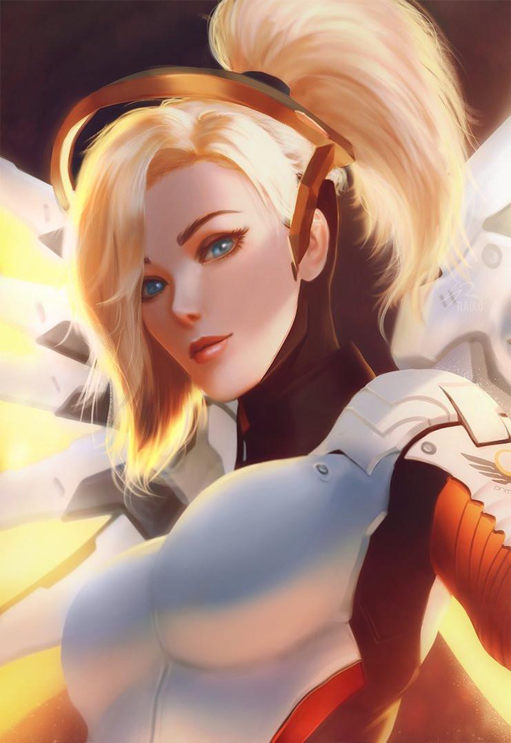 Mercy Overwatch Fan Art