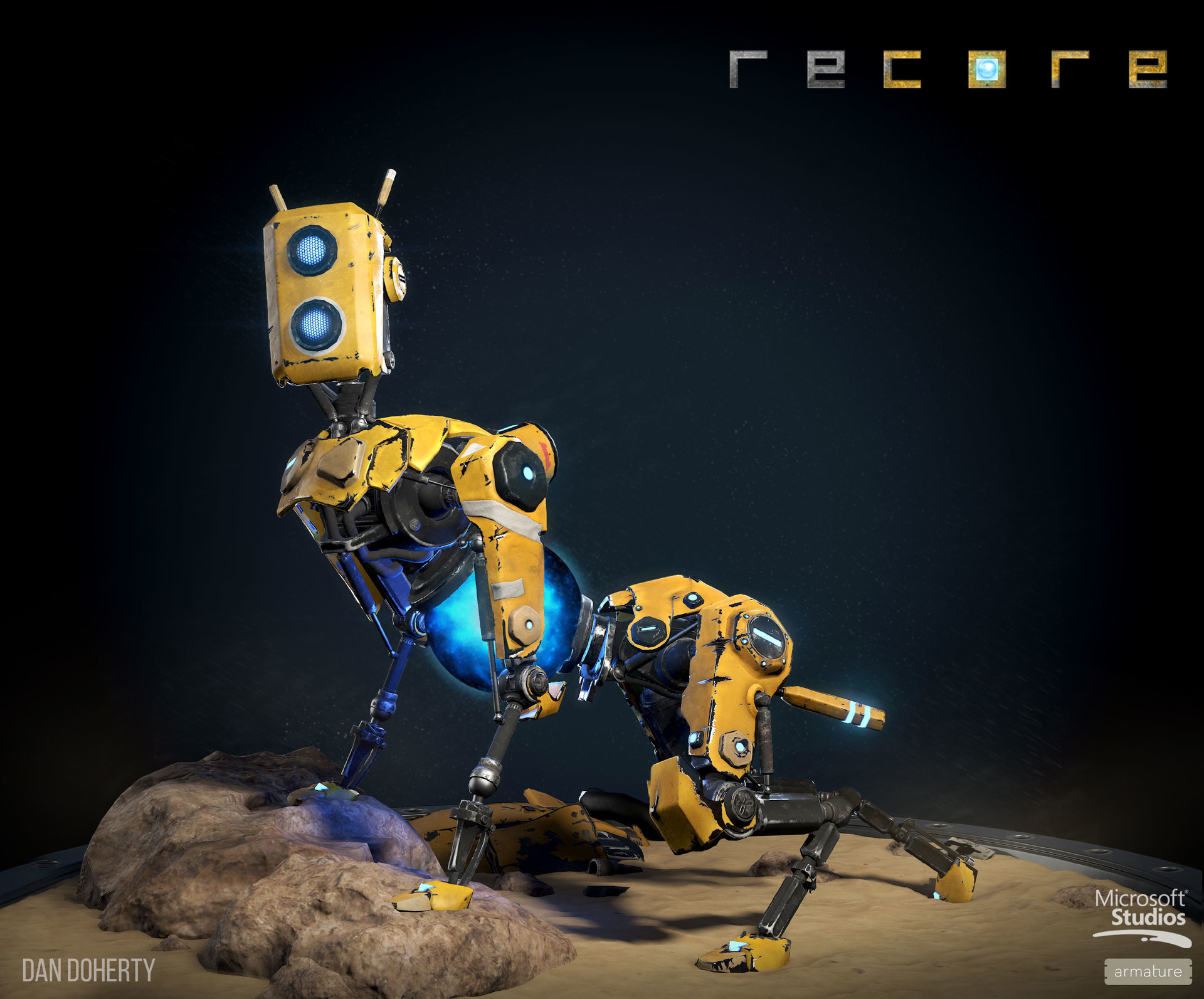 ReCore Game Art by Dan Doherty
