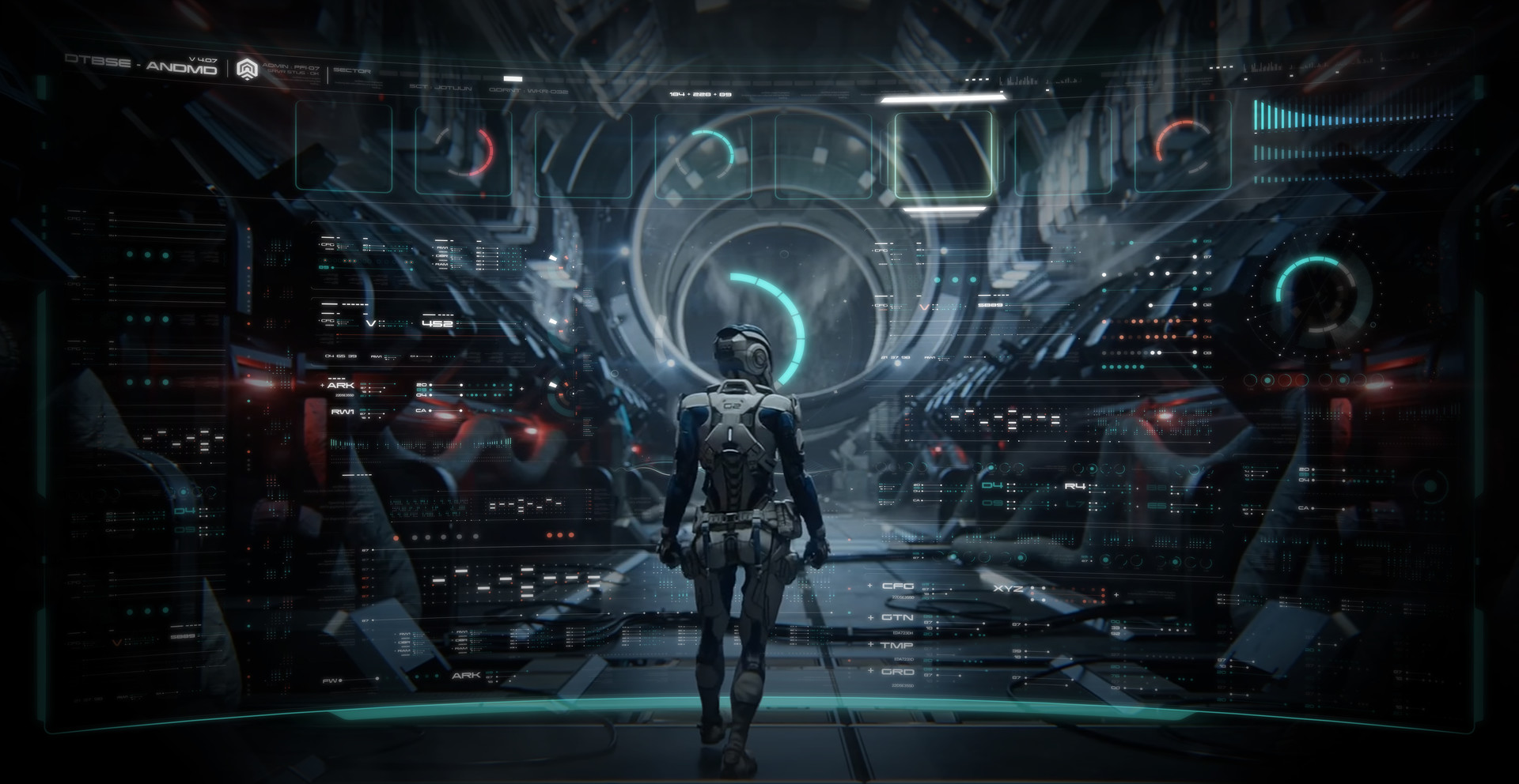 Mass Effect Andromeda UI Art