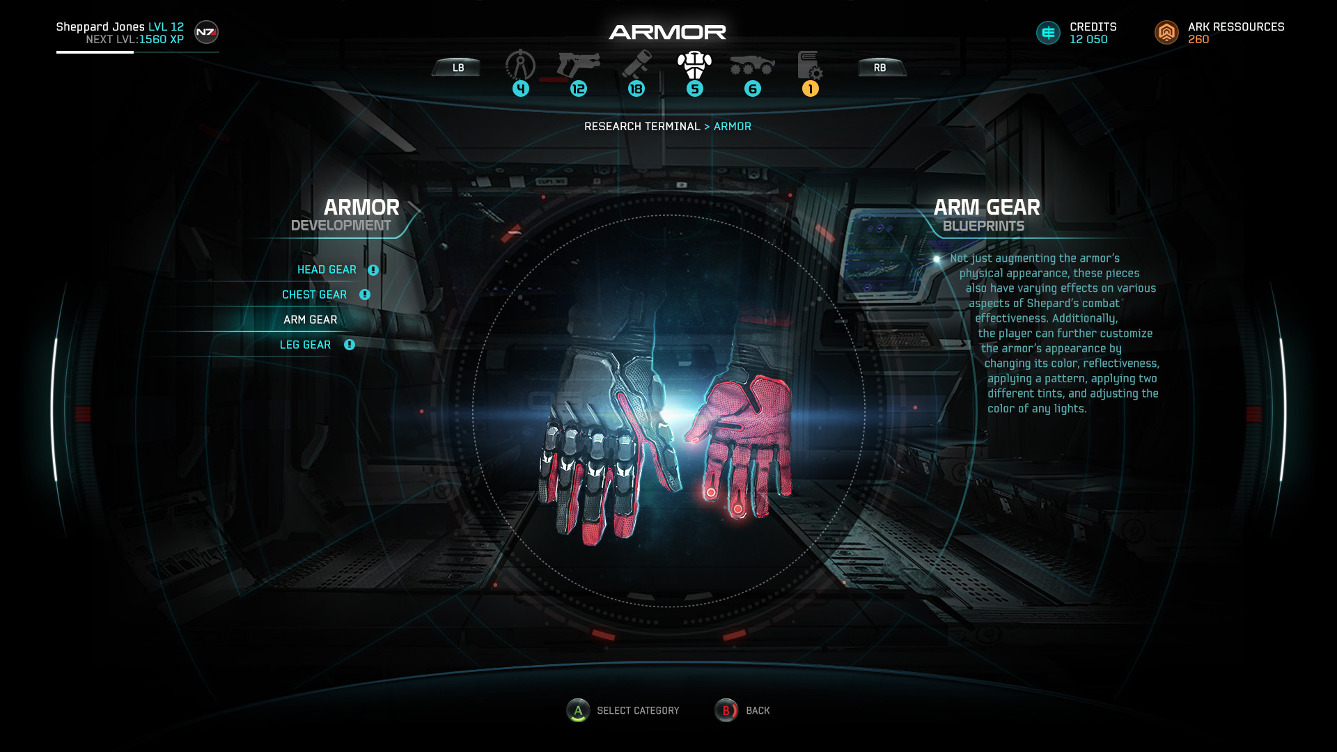 Mass Effect Andromeda User Interface