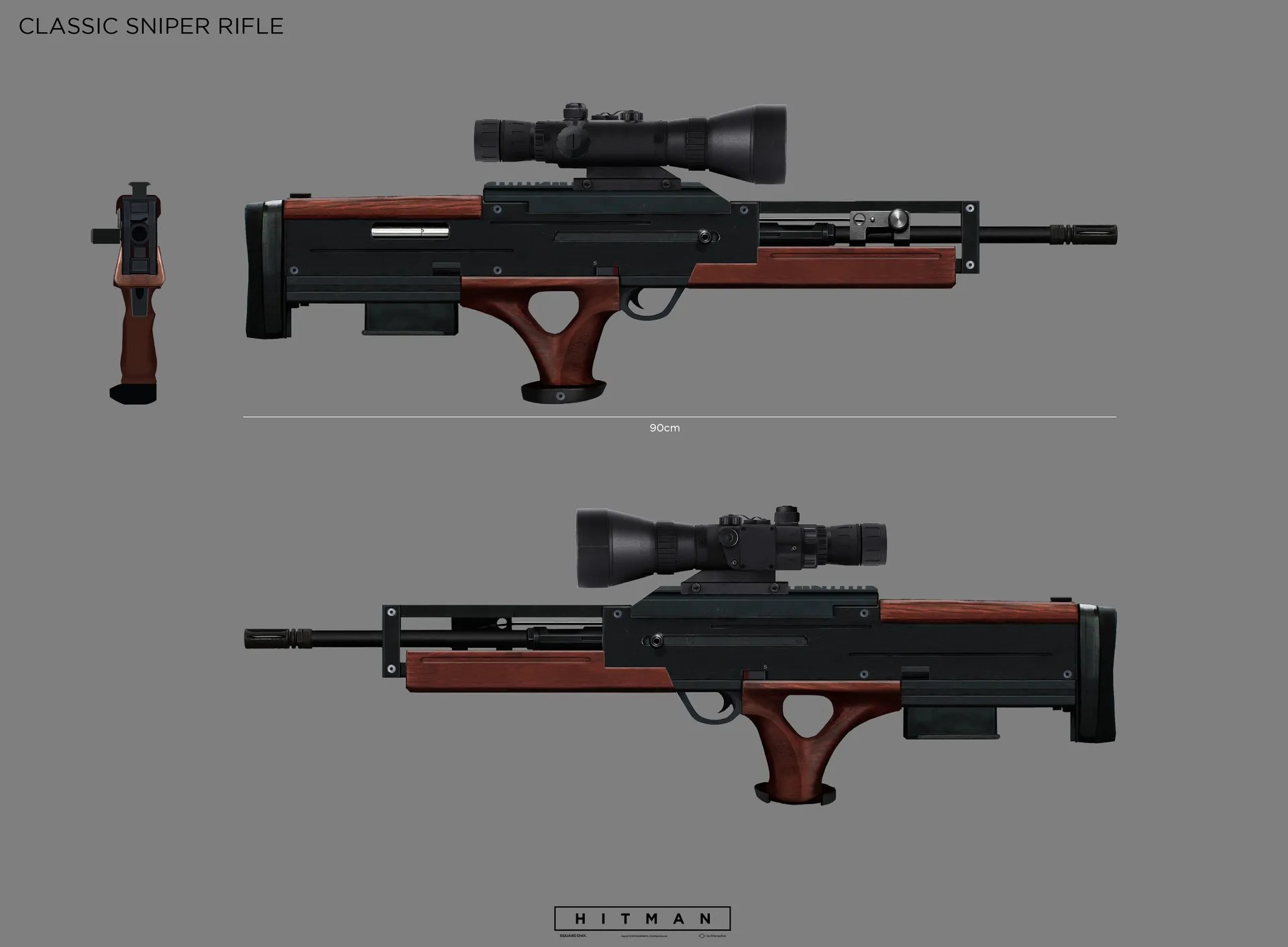 Weapon Concept Art for Hitman by Simon Lindwall