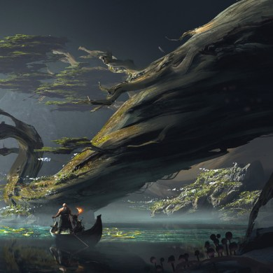 God of War Concept Art by Luke Berliner