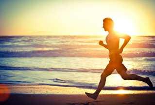 Man-Running-Beach Fitbit