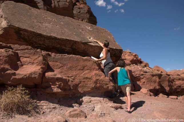 Dino tracks Moab Utah