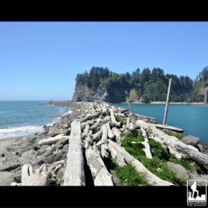 Pacific Coast La Push Washington first beach