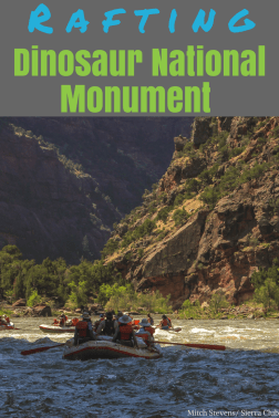 Rafting through Dinosaur National Monument