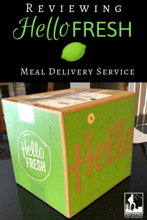 A Review of Hello Fresh Meal Delivery Service