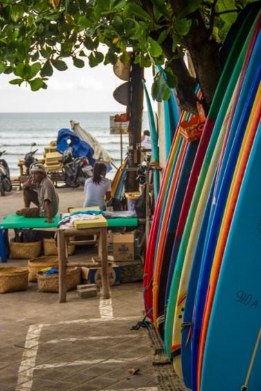 Board rental at Batu Bolong Beach.