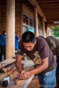 Paddle making at Tofino Carving Festival