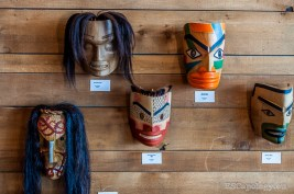 Traditional masks on display