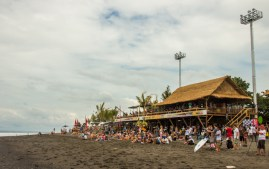 The crowd at the Oakley Pro at day 1.