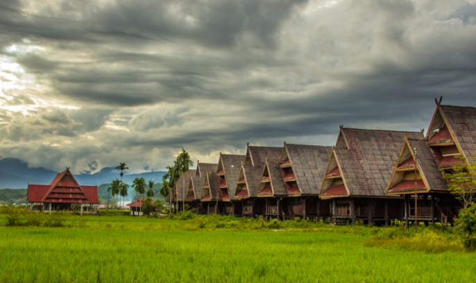 Traditional houses in Tentena.