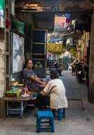 An afternoon chat in Old Town Hanoi