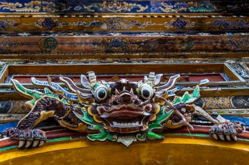 Dragon at imperial citadel, Hue, Vietnam