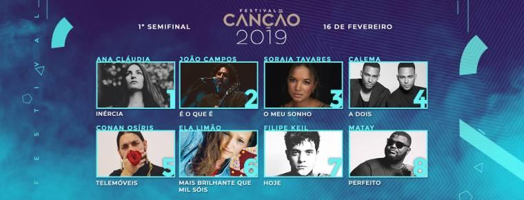 00 - Portugal 2019 (Festival Da Canção, Eurovision) SF1