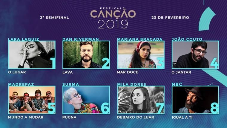 00 - Portugal 2019 (Festival Da Canção, Eurovision) SF2