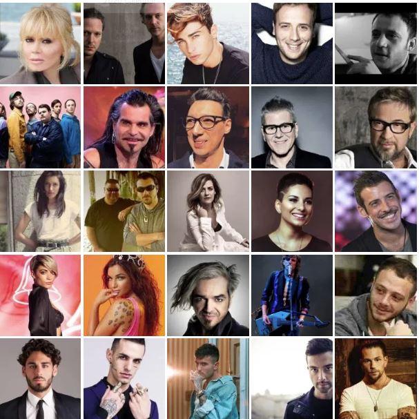 Italy Sanremo 2020 participants