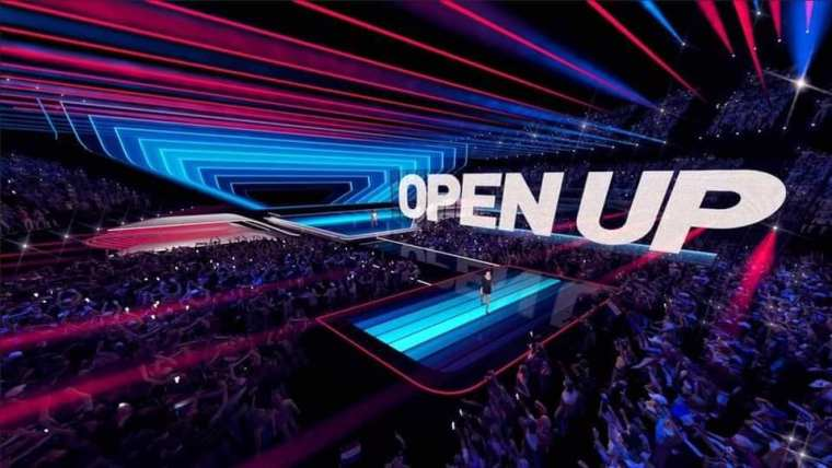 Eurovision 2020 stage with led screen