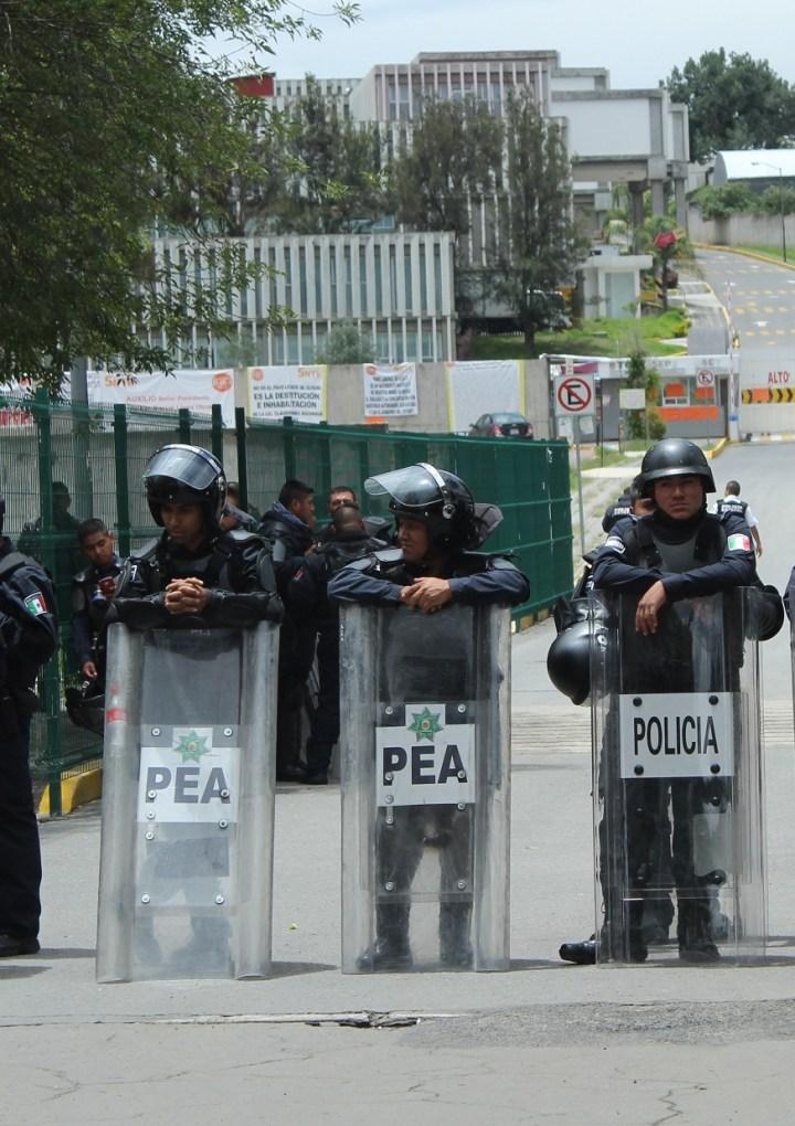 Descarta SEGOB agresiones y violación a derechos humanos tras desalojo de SEP-USET