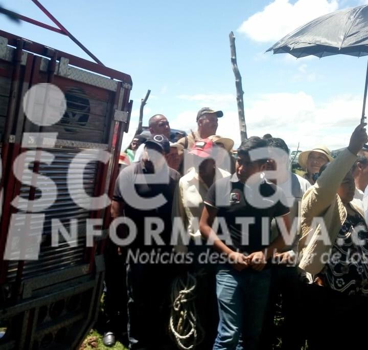 Tensión en Xaloztoc por discrecional entrega del Fondo de Apoyos al Campo este sábado.
