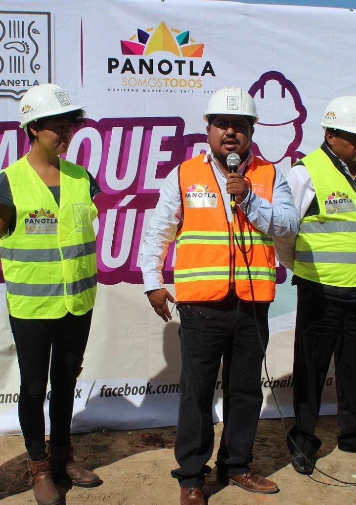 En Huiloapan, arranca alcalde de Panotla programa de obras públicas 2019.