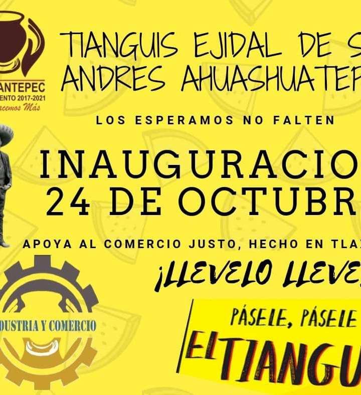 Pondrán en funciones  Tianguis Ejidal en Tzompantepec