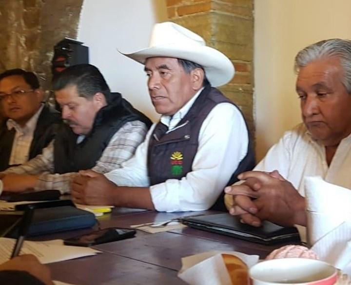 Campesinos tlaxcaltecas se suman a manifestación en Cámara de Diputados