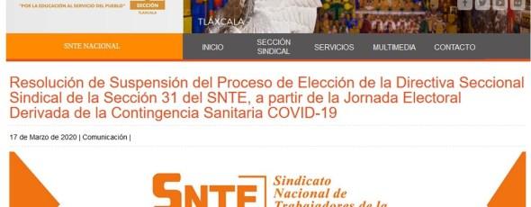 Suspenden elección de dirigencia del SNTE-31; será hasta el 24 de abril