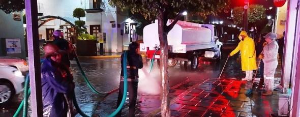 Continúa Servicios Públicos de la capital con limpieza de calles y avenidas