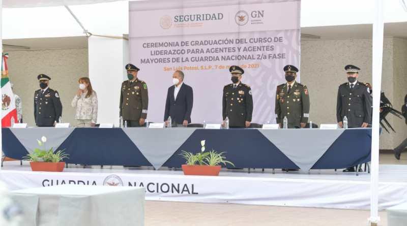 ASISTE GOBERNADOR A CLAUSURA DEL CURSO DE LIDERAZGO PARA AGENTES Y AGENTES MAYORES DE LA GUARDIA NACIONAL