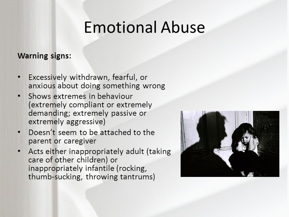 Parental emotional abuse signs