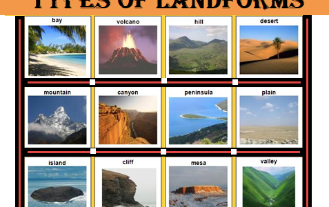 Types Of Landforms Introduction Examples Eschool