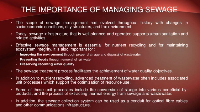 Why is water treatment important - Eschool