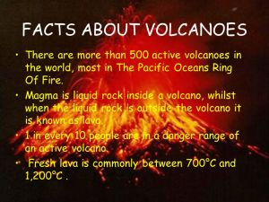 Facts of volcanoes