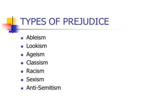 what is prejudice and examples