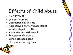 Effects of neglecting a child