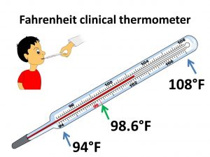 How is a temperature measured