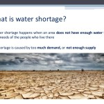 What is water shortage