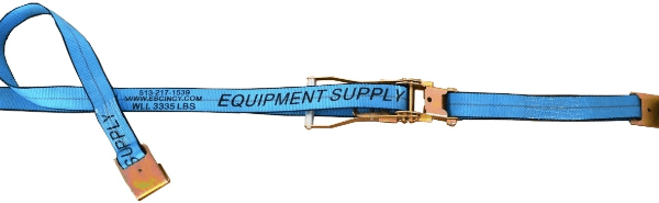 "2"" x 30' Blue Ratchet Strap w/ Flat Hook - Blue"