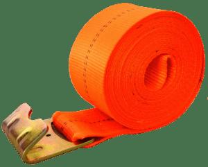 "4"" x 30' winch strap with flat hook orange esc brand"