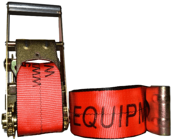 """4"""" x 30' ratchet strap with flat hook esc brand red"""