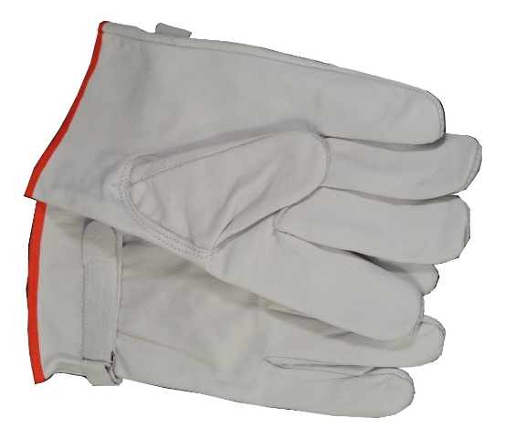 white goat leather driving gloves