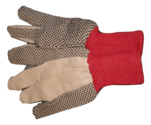 pvc dot working gloves garden gloves cloth