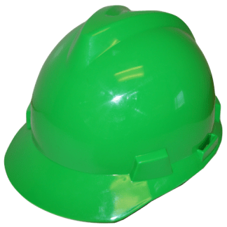 ESC Green Safety Helmet front view web