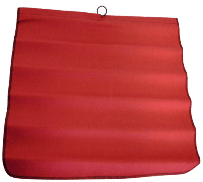 Red Cotton Warning Flag with Steel Wire Rod 9122 web