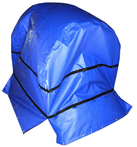 coil bag light weight 10 oz blue 6 by 6 by 6 coil tarp