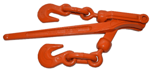 "3/8"" - 1/2"" - Lever Binder w/ Grab Hooks - Orange"