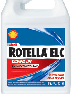 shell rotella elc antifreeze coolant 5050 ready to pour 1 gallon