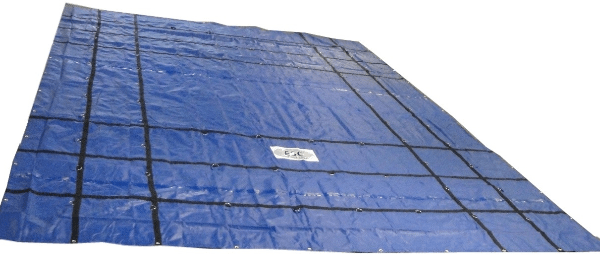 machinery tarp 24x24 blue 18oz esc