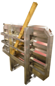 cab rack with lumber package 2 chain hangers one tray 68 by 80 inches
